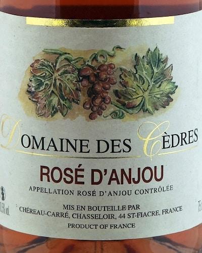Anjou Rosé, Domaine des Cedres