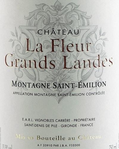 Château La Fleur Grands Landes Montagne St Emilion