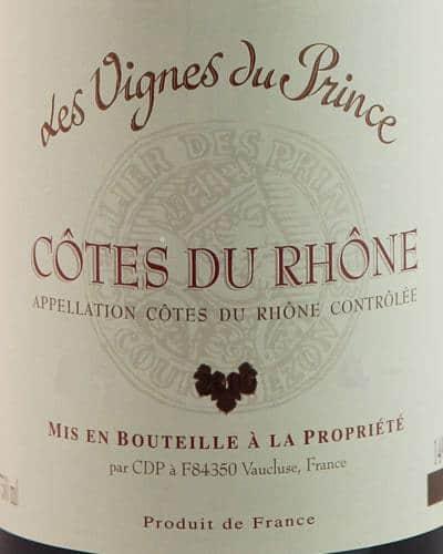 Côtes du Rhône, Les Vignes du Prince
