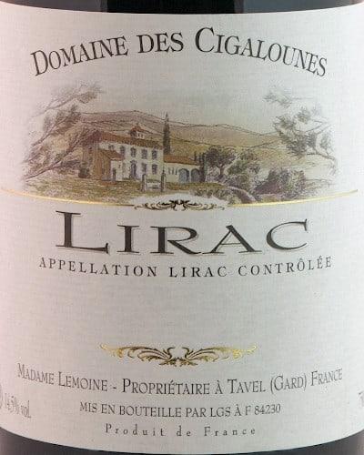 Lirac, Domaine des Cigalounes