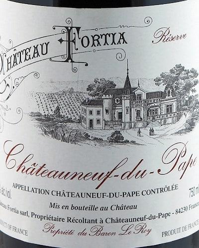 Reserve de Château Fortia Chateauneuf du Pape