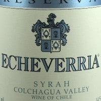 Viña Echeverria Syrah Reserva