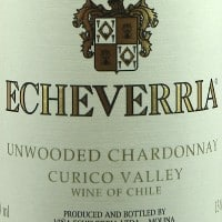 Viña Echeverria Unwooded Chardonnay
