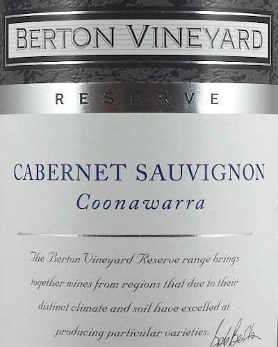 Berton Reserve Cabernet Sauvignon