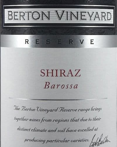 Berton Reserve Shiraz