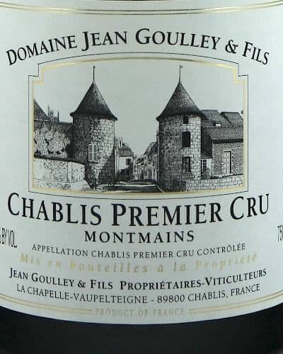 Chablis 1er Cru Montmains, Jean Goulley