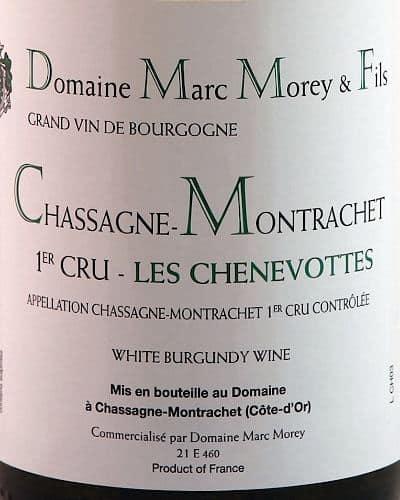 Chassagne Montrachet 1er Cru Les Chenevottes, Marc Morey