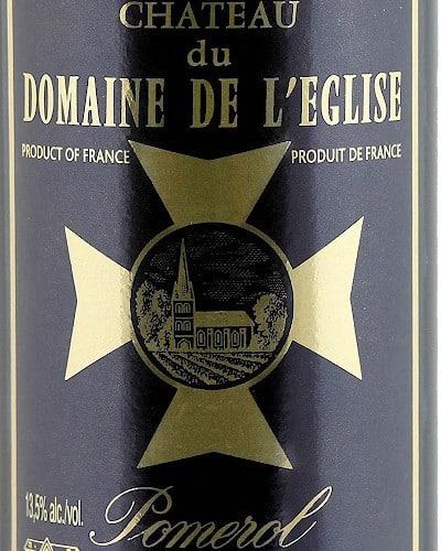 Château du Domaine de l'Eglise, Pomerol