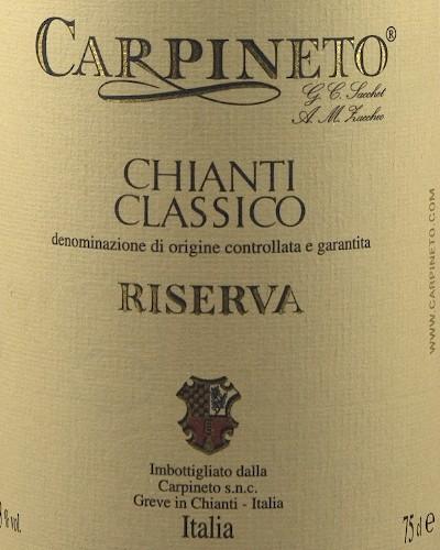 Chianti Classico Riserva DOCG, Carpineto