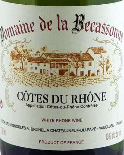 Côtes du Rhône Blanc, Domaine de la Becassonne