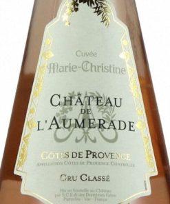 Cuvée Marie Christine Rosé, Château de l'Aumérade Cru Classé