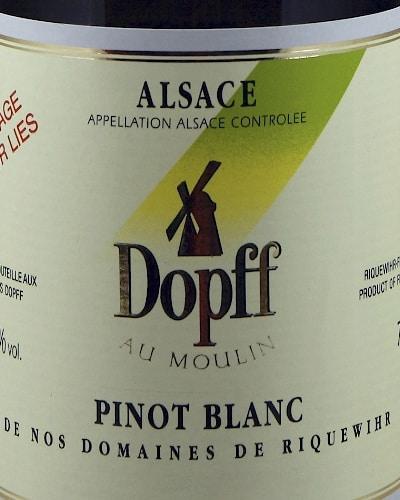 Dopff Au Moulin Pinot Blanc de Riquewihr 'sur Lies'