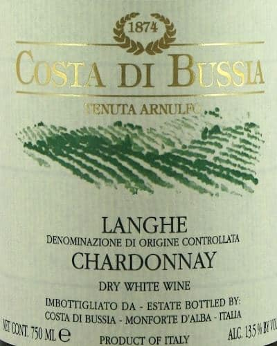 Langhe Chardonnay DOC, Costa di Bussia
