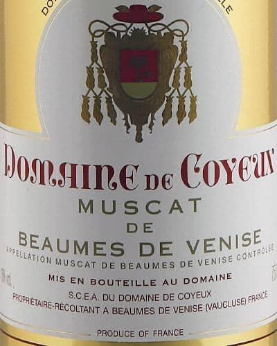 Muscat de Beaumes de Venise ' Cuvée les Trois Fonts', Domaine de Coyeux (37.5 cl)