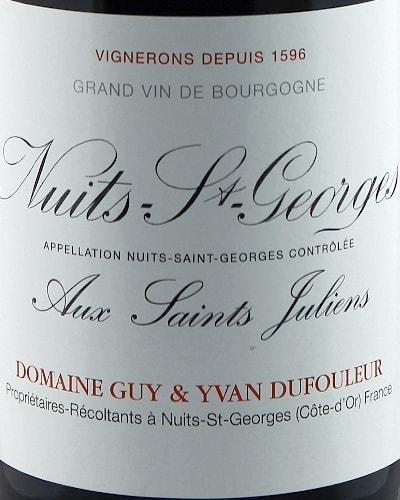 Nuits St Georges Aux St Juliens Vieilles Vignes, Dufouleur