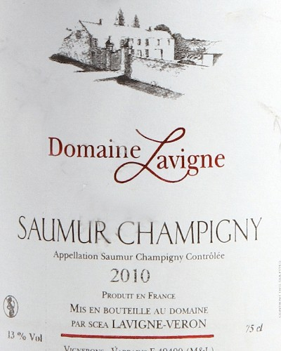 Saumur Champigny Vieilles Vignes, Lavigne