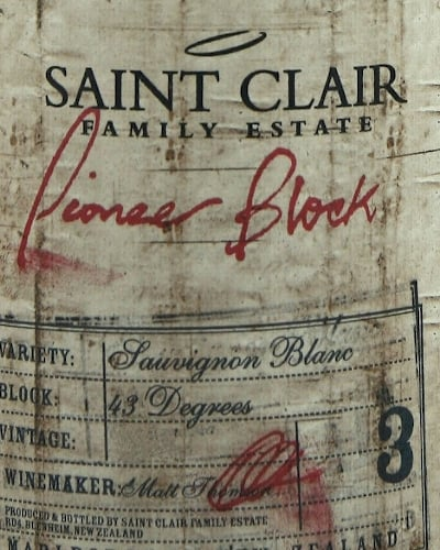 Saint Clair Pioneer Block 3 Sauvignon Blanc